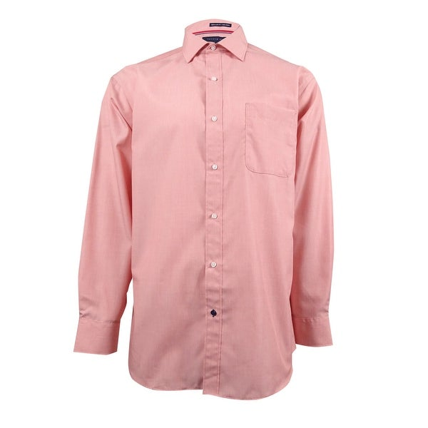 Tommy Hilfiger Mens Non Iron Regular Fit Solid Button Down