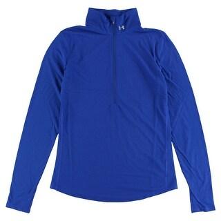 Under Armour Womens Streaker Half Zip Long Sleeve Shirt Royal Blue - ROYAL BLUE - M