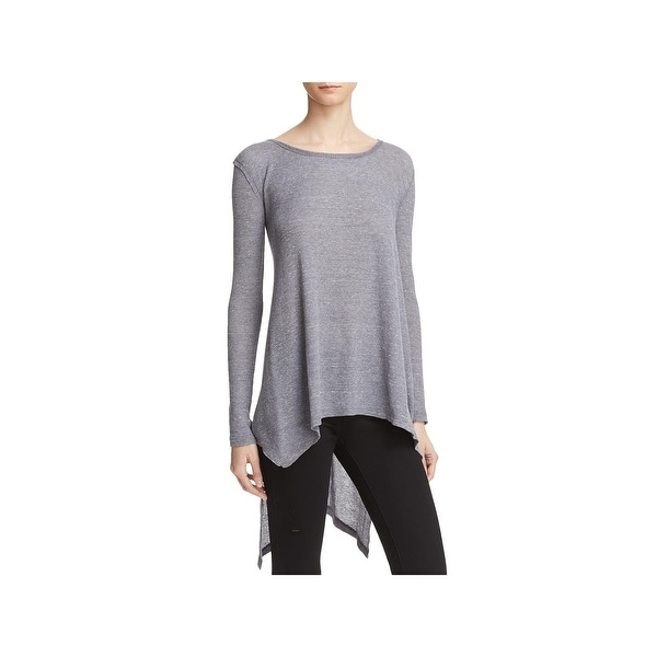 Free People Womens T-Shirt Heathered Long Sleeves
