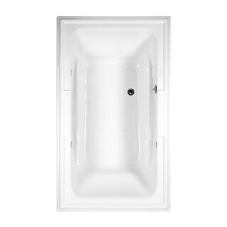 "American Standard 2742.002 Town Square 71-1/2"" Acrylic Soaking Bathtub with Center Drain - Lifetime Warranty"