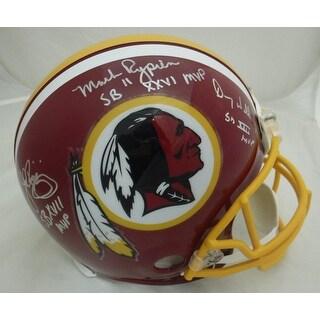 Washington Redskins SB MVP Autographed Full Size Proline Helmet John Riggins Doug Williams Mark Ry