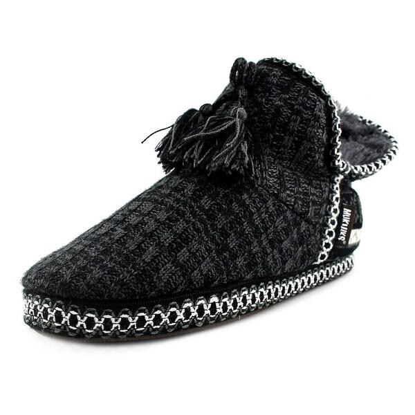 Muk Luks Sweater Women Black Slippers