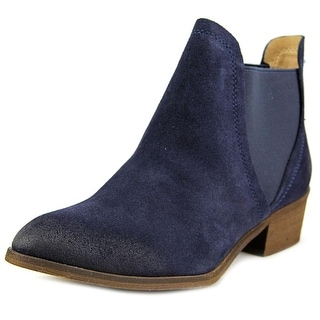Splendid Henri Women Round Toe Suede Blue Ankle Boot