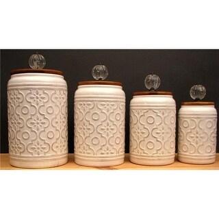 IWGAC 049-17718 Ceramic 4 Piece Canister Set