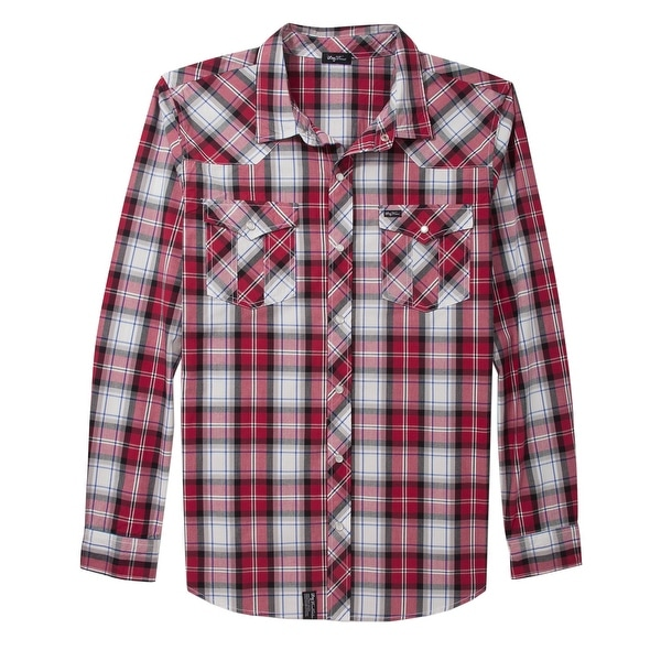 530c17a20cf6d Shop LRG Chief Rocka Woven Plaid Long Sleeve Shirt Small S Red & White - Free  Shipping On Orders Over $45 - Overstock - 14020761