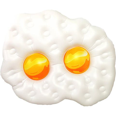 Inflatable 5 ft. Fried Eggs Pool Float - Multi