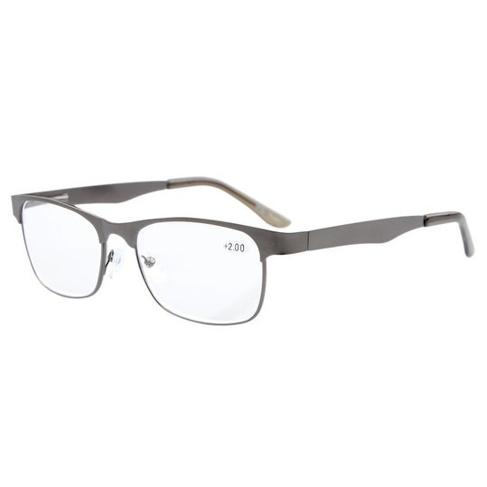 d4e93a25010 Shop Eyekepper Readers Metal Frame Spring Hinge Reading Glasses Gunmetal + 2.75 - Free Shipping On Orders Over  45 - Overstock.com - 15193956