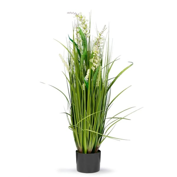 3 Feet High Artificial Reed with White Snapdragon Similar Flowers
