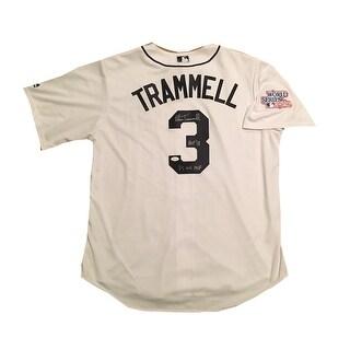 Alan Trammell Autographed Detroit Tigers Hall of Fame HOF 2018 Signed Baseball Jersey 1984 World Se