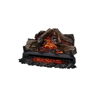 "Napoleon NEFI18 5000 BTU 18"" Wide Electric Fireplace Log Set Insert with Remote Control from the Woodland Series - Wood - N/A"