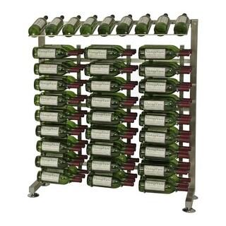 VintageView IDR3-H 90-Bottle 3-Foot Half-Island Display Rack - N/A