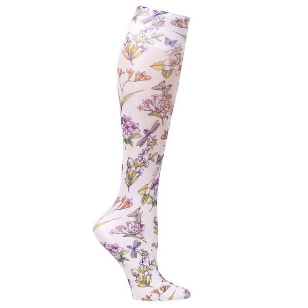 Celeste Stein Moderate Compression Knee High Stockings Wide Calf-Summerfest - Medium