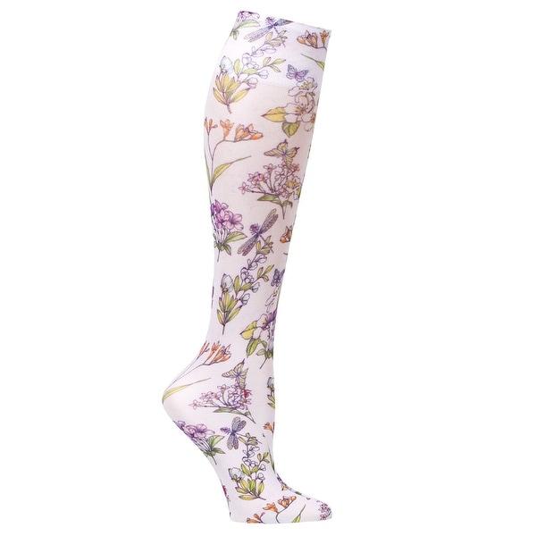 Celeste Stein Women's Mild Compression Knee High Stockings - Summerfest - Medium