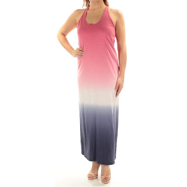 22f93930947bd Shop TOMMY HILFIGER Womens Pink Ombre Sleeveless Scoop Neck Maxi Shift  Dress Size  M - Free Shipping On Orders Over  45 - Overstock - 23457099