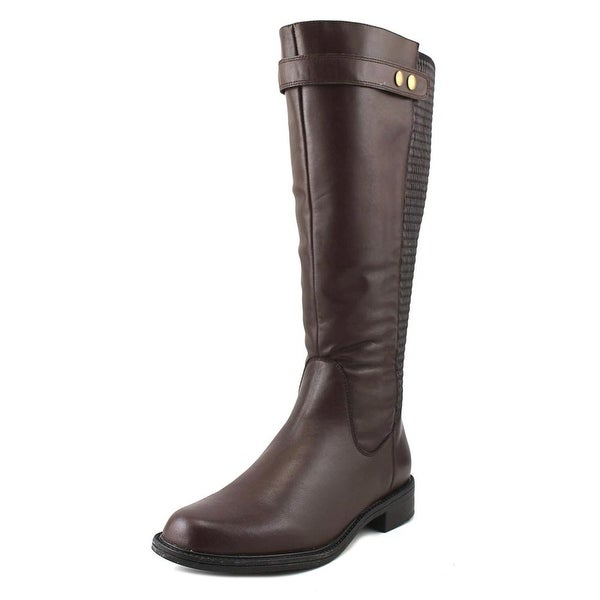 David Tate Anita Wide Calf Brown Boots