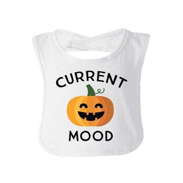 Pumpkin Current Mood White Cotton Baby Bib Cute Pumpkin Baby Bib