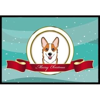 Carolines Treasures BB1564JMAT Red Corgi Merry Christmas Indoor & Outdoor Mat 24 x 36 in.