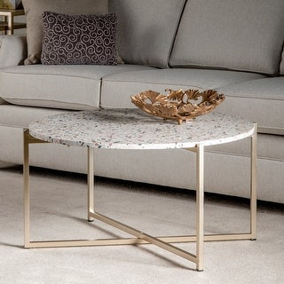 "Link to Maeve 18.5"" Terrazzo Accent Table in Gold - 34""Rnd x 18""H Similar Items in Living Room Furniture"