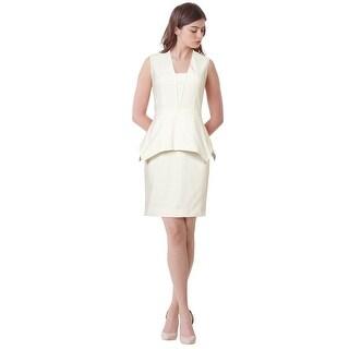 Yigal Azrouel Sleeveless Crepe Sheath Peplum Cocktail Dress - 6