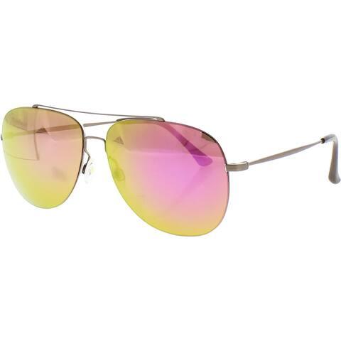 Maui Jim Cinder Cone Aviator Sunglasses Polarized Mirrored - Satin Sepia - O/S