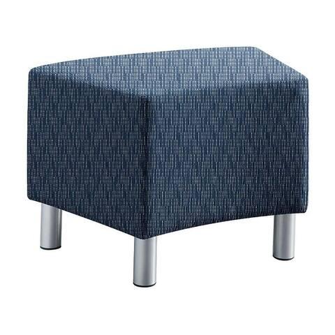 "Copper Grove Monpos Geometric Modular Fabric-Upholstered Bench - 24"" x 18"" x 18"""