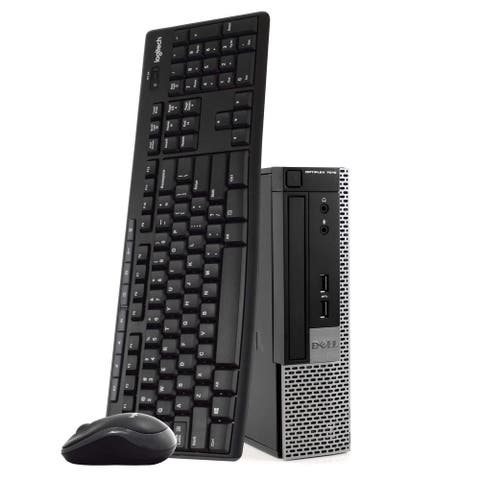 Dell 7010 Ultra Small Desktop Computer 8GB 500GB HDD Wireless Keyboard & Mouse - Black