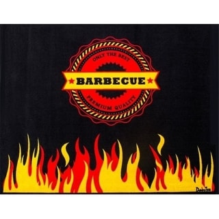 Floortex FR4BQ3948FL Doortex Barbeque Mat 39 x 48 in. Flame Rectangular Fire  ant Barbeque Mat
