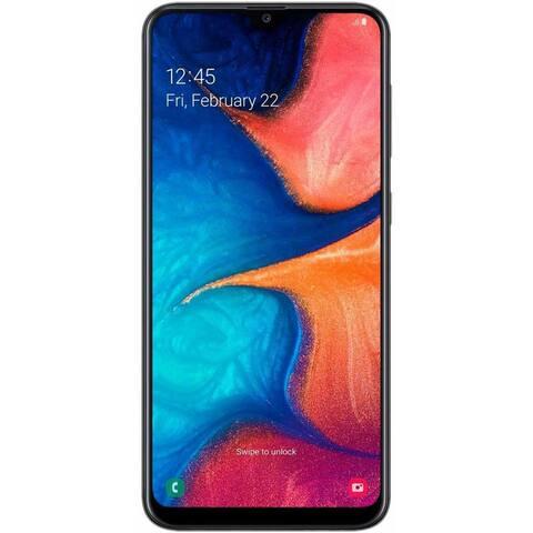 Samsung Galaxy A20 A205U 32GB Unlocked GSM/CDMA Phone w/ Dual 13MP Camera - Black (Certified Refurbished)
