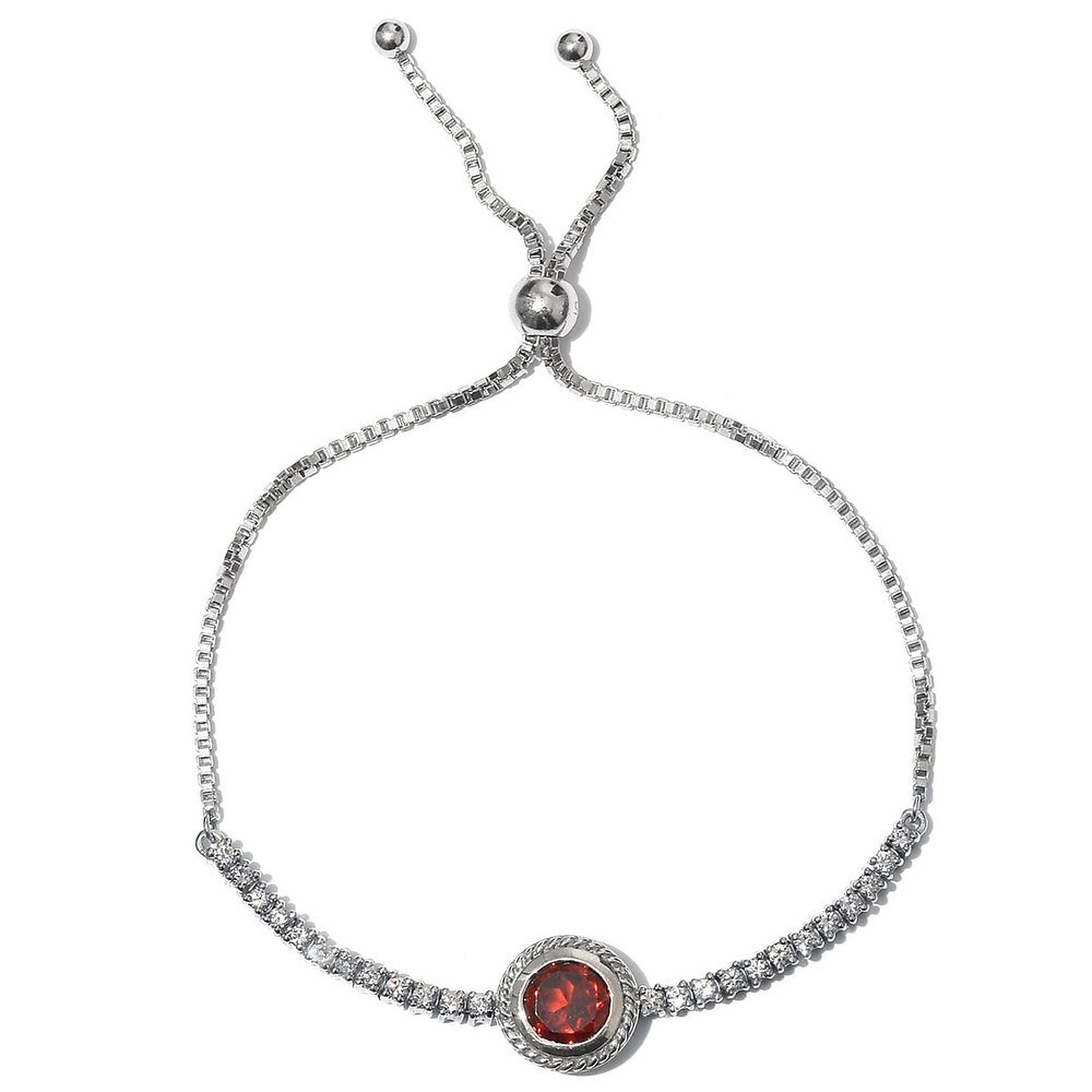 .925 Sterling Silver Adjustable Bead and Tassel Bolo Women/'s Bracelet