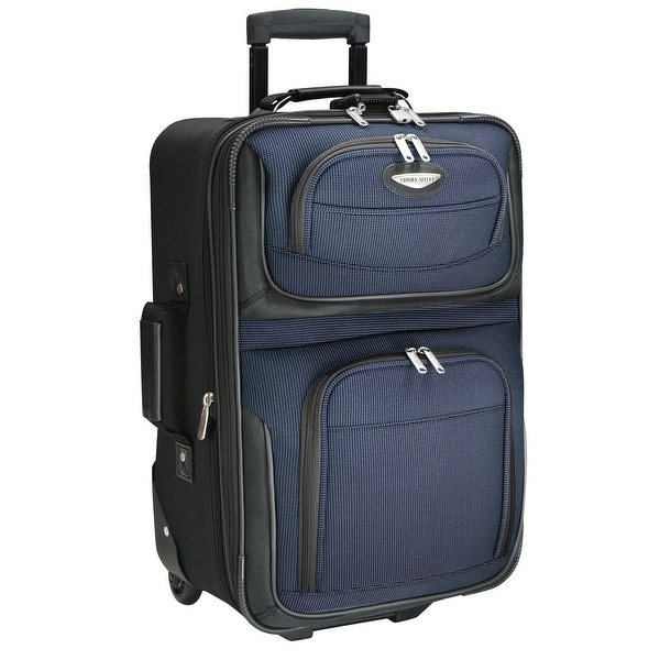 Travel Select Amsterdam 21-inch Lightweight Carry On Upright Suitcase. Opens flyout.