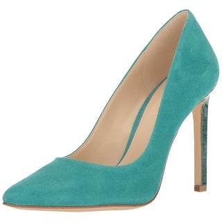 Nine West Womens Tatiana Leather Pointed Toe Classic Pumps