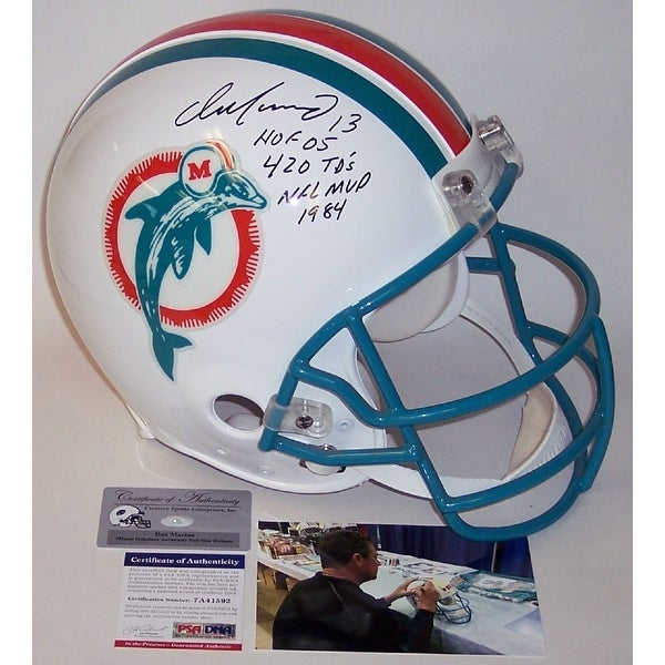Dan Marino Autographed Hand Signed Miami Dolphins Throwback Full Size Authentic Helmet PSADNA