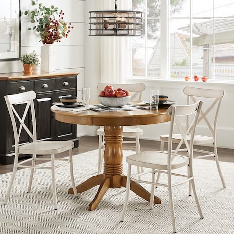 """Wilmington II 42"""" 5-Piece Metal Chair Dining Set by iNSPIRE Q Classic"""
