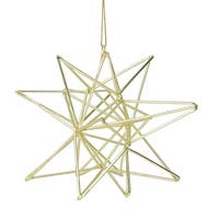 Gold Geometric Star Christmas Ornament