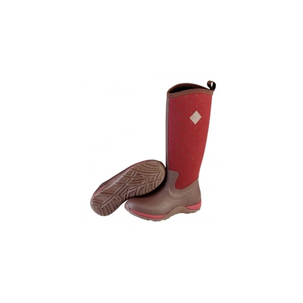 Muck Boot's Women's Arctic Adventure Red Boots w/ Lightweight Outsole - Size 11