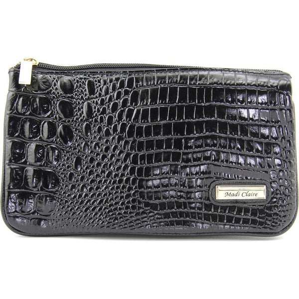Shop Madi Claire 4973 Women Leather Clutch Black Free Shipping