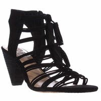 Vince Camuto Edola Heeled Gladiator Sandals, Black
