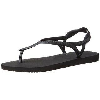 Havaianas Womens Luna Rubber Open Toe Beach Slide Sandals