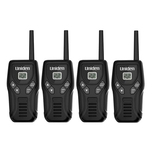 Uniden GMR2035-2 (4 Pack) Two-Way Radio w/ PTT Button & Auto Squelch