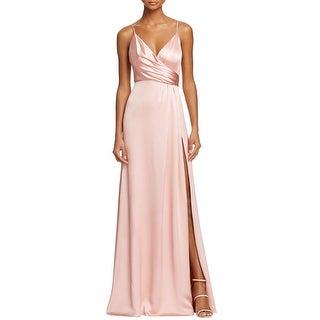 Jill Stuart Womens Evening Dress Satin Wrap