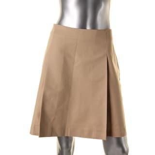 Lauren Ralph Lauren Womens Pleated Stretch Mini Skirt