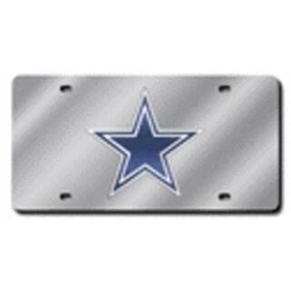 Rico Industries Laser Cut Auto Tag - Dallas Cowboys, Silver