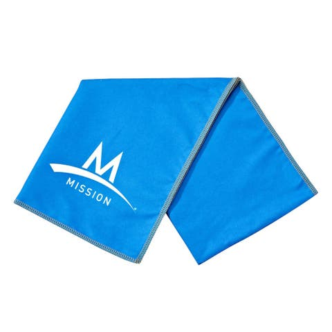 """Mission Athletecare Enduracool Instant Cooling Lightweight Towel Blue 13"""" x 37"""""""