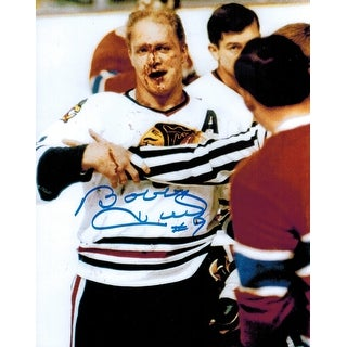 Bobby Hull Signed Blackhawks Blood 8x10 Photo