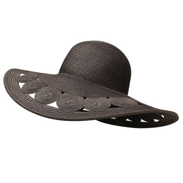 220eb37a Jeanne Simmons Accessories Woman's Hat -Black Deep Brim Paper Braid Sun
