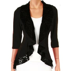 Funfash Plus Size Cardigan Black Lace Layered New Womens Sweater