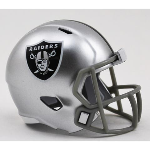 Oakland Raiders Helmet Riddell Pocket Pro Speed Style