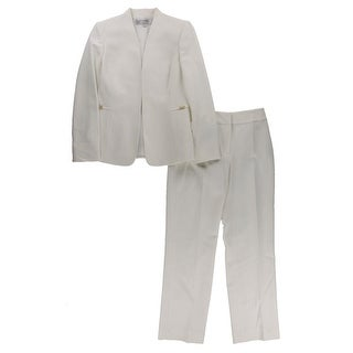 Tahari ASL Womens Petites Nathan Pant Suit 2PC Embellished
