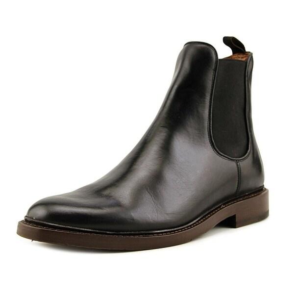 Frye Jones Chelsea Men Round Toe Leather Black Ankle Boot