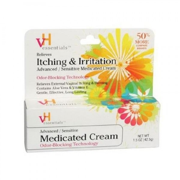 VH Essentials Sensitive Medicated Cream, Odor-Blocking Technology, 1.5oz